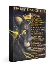 I Closed My Eyes For But A Moment Dad To Daughter 11x14 Gallery Wrapped Canvas Prints front