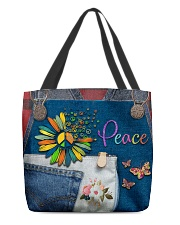 Hippie Peace All-over Tote back