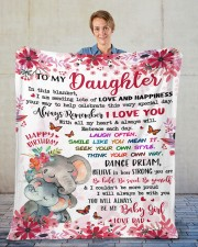 """In This Blanket Im Sending LotsOf Love To Daughter Fleece Blanket - 50"""" x 60"""" aos-coral-fleece-blanket-50x60-lifestyle-front-01"""
