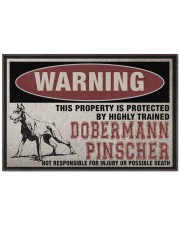 """Dobermann this property is protected Doormat 22.5"""" x 15""""  front"""