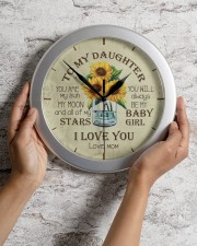 You Are My Sun My Moon Mom To Daughter Wall Clock aos-wall-clock-lifestyle-front-02
