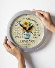 You Are My Sun My Moon Mom To Daughter Wall Clock aos-wall-clock-lifestyle-front-05