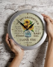 You Are My Sun My Moon Mom To Daughter Wall Clock aos-wall-clock-lifestyle-front-07