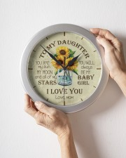 You Are My Sun My Moon Mom To Daughter Wall Clock aos-wall-clock-lifestyle-front-09