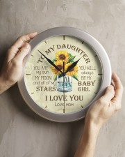 You Are My Sun My Moon Mom To Daughter Wall Clock aos-wall-clock-lifestyle-front-11