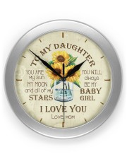 You Are My Sun My Moon Mom To Daughter Wall Clock front