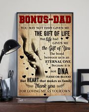Bonus Dad Thank you for loving me as your own  11x17 Poster lifestyle-poster-2