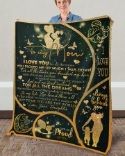 """I Love You For All The Times Daughter To Mom Fleece Blanket - 50"""" x 60"""" aos-coral-fleece-blanket-50x60-lifestyle-front-02a"""