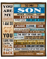 """Never Forget I Love U Mom To Son Fleece Blanket - 50"""" x 60"""" front"""