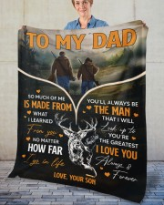 """So Much Of Me Is Made From What I Learned To Dad Fleece Blanket - 50"""" x 60"""" aos-coral-fleece-blanket-50x60-lifestyle-front-02"""