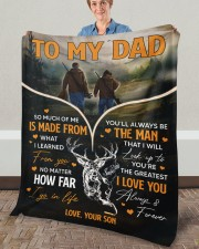 """So Much Of Me Is Made From What I Learned To Dad Fleece Blanket - 50"""" x 60"""" aos-coral-fleece-blanket-50x60-lifestyle-front-02a"""