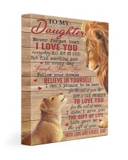 Never Forget That I Love You Lion Dad To Daughter 11x14 Gallery Wrapped Canvas Prints front