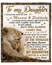 """I Closed My Eyes For But A Moment Mom To Daughter Fleece Blanket - 50"""" x 60"""" front"""