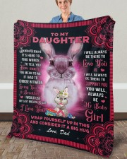 """Sometimes It's Hard To Find Words Dad To Daughter Fleece Blanket - 50"""" x 60"""" aos-coral-fleece-blanket-50x60-lifestyle-front-02a"""