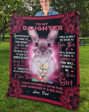 """Sometimes It's Hard To Find Words Dad To Daughter Fleece Blanket - 50"""" x 60"""" aos-coral-fleece-blanket-50x60-lifestyle-front-02b"""