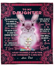 """Sometimes It's Hard To Find Words Dad To Daughter Fleece Blanket - 50"""" x 60"""" front"""