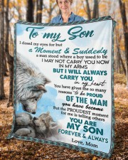 """I Closed My Eyes For But A Moment Mom To Son Fleece Blanket - 50"""" x 60"""" aos-coral-fleece-blanket-50x60-lifestyle-front-02c"""