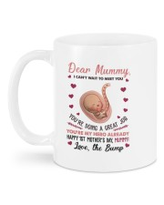 I Can't Wait To Meet You Daughter To Mom Mug back