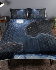 Panther Dad and Son Queen Quilt Bed Set aos-queen-quilt-bed-set-lifestyle-front-01a