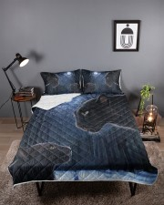 Panther Dad and Son Queen Quilt Bed Set aos-queen-quilt-bed-set-lifestyle-front-02