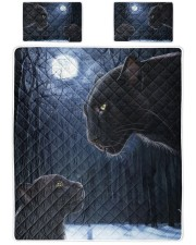 Panther Dad and Son Queen Quilt Bed Set front