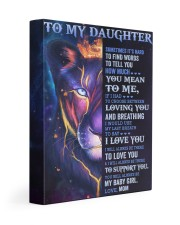 It's Hard To Find Words To Tell U Mom To Daughter 11x14 Gallery Wrapped Canvas Prints front