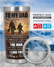 So Much Of Me Is Made From What I Learned To Dad 20oz Tumbler aos-20oz-tumbler-lifestyle-front-49