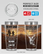 So Much Of Me Is Made From What I Learned To Dad 20oz Tumbler aos-20oz-tumbler-lifestyle-front-60