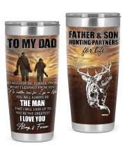 So Much Of Me Is Made From What I Learned To Dad 20oz Tumbler front