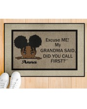 "Excuse Me My Grandma Said Did U Call First Custom Doormat 22.5"" x 15""  aos-doormat-22-5x15-lifestyle-front-03"