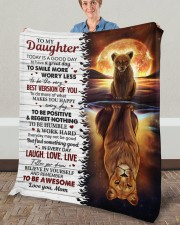 """Today Is A Good Day Have Great Day Mom To Daughter Fleece Blanket - 50"""" x 60"""" aos-coral-fleece-blanket-50x60-lifestyle-front-02a"""
