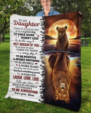 """Today Is A Good Day Have Great Day Mom To Daughter Fleece Blanket - 50"""" x 60"""" aos-coral-fleece-blanket-50x60-lifestyle-front-02b"""