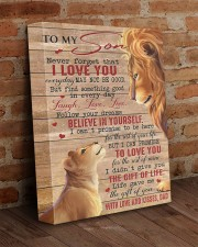 Never Forget That I Love U Lion Dad To Son 11x14 Gallery Wrapped Canvas Prints aos-canvas-pgw-11x14-lifestyle-front-09