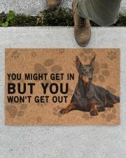 "Dobermann Pinscher you might get in Doormat 22.5"" x 15""  aos-doormat-22-5x15-lifestyle-front-01"