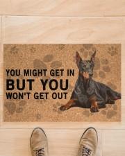 "Dobermann Pinscher you might get in Doormat 22.5"" x 15""  aos-doormat-22-5x15-lifestyle-front-02"