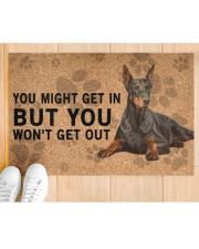"Dobermann Pinscher you might get in Doormat 22.5"" x 15""  aos-doormat-22-5x15-lifestyle-front-03"