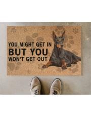 "Dobermann Pinscher you might get in Doormat 22.5"" x 15""  aos-doormat-22-5x15-lifestyle-front-04"