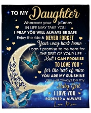 """Mom - Daughter Moon Promise To Love U For The Rest Fleece Blanket - 50"""" x 60"""" front"""