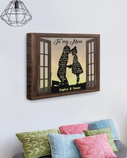 Daughter To Mom I Am Because You Are Custom 20x16 Gallery Wrapped Canvas Prints aos-canvas-pgw-20x16-lifestyle-front-02
