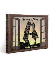 Daughter To Mom I Am Because You Are Custom 20x16 Gallery Wrapped Canvas Prints front