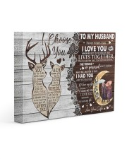 Never Forget That I Love You To Husband 14x11 Gallery Wrapped Canvas Prints front