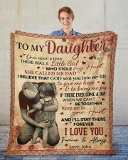 """Once Upon A Time There Was A Girl Dad To Daughter Fleece Blanket - 50"""" x 60"""" aos-coral-fleece-blanket-50x60-lifestyle-front-01"""