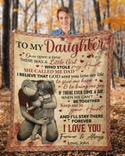 """Once Upon A Time There Was A Girl Dad To Daughter Fleece Blanket - 50"""" x 60"""" aos-coral-fleece-blanket-50x60-lifestyle-front-01b"""
