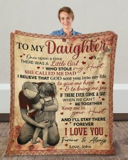 """Once Upon A Time There Was A Girl Dad To Daughter Fleece Blanket - 50"""" x 60"""" aos-coral-fleece-blanket-50x60-lifestyle-front-01c"""