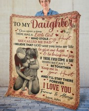 """Once Upon A Time There Was A Girl Dad To Daughter Fleece Blanket - 50"""" x 60"""" aos-coral-fleece-blanket-50x60-lifestyle-front-02"""