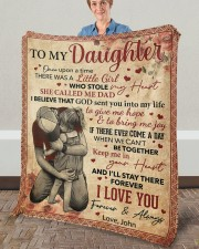 """Once Upon A Time There Was A Girl Dad To Daughter Fleece Blanket - 50"""" x 60"""" aos-coral-fleece-blanket-50x60-lifestyle-front-02a"""