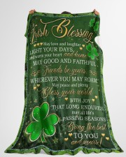 """Irish Blessing May Love And Laughter Light Ur Days Large Fleece Blanket - 60"""" x 80"""" aos-coral-fleece-blanket-60x80-lifestyle-front-10"""