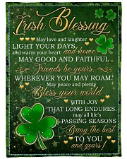 """Irish Blessing May Love And Laughter Light Ur Days Large Fleece Blanket - 60"""" x 80"""" front"""