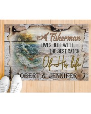 """Personalized Name An Old Fisherman To Husband Doormat 22.5"""" x 15""""  aos-doormat-22-5x15-lifestyle-front-03"""