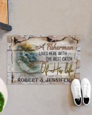 """Personalized Name An Old Fisherman To Husband Doormat 22.5"""" x 15""""  aos-doormat-22-5x15-lifestyle-front-07"""